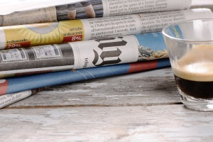 Coffe with the newspaper